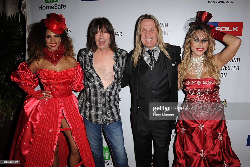 Pat Travers and Nicko McBrain attend Classic Rock And Roll Party to benefit HomeSafe at Seminole Hard Rock Hotel on March 2, 2013 in Hollywood, Florida.