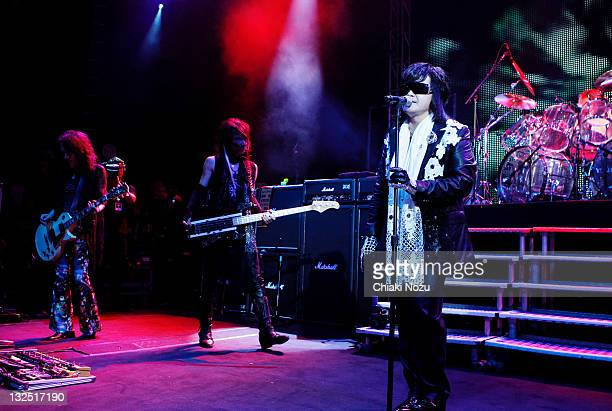 Pata Heath and Toshi of X Japan perform at Shepherds Bush Empire on June 28 2011 in London England