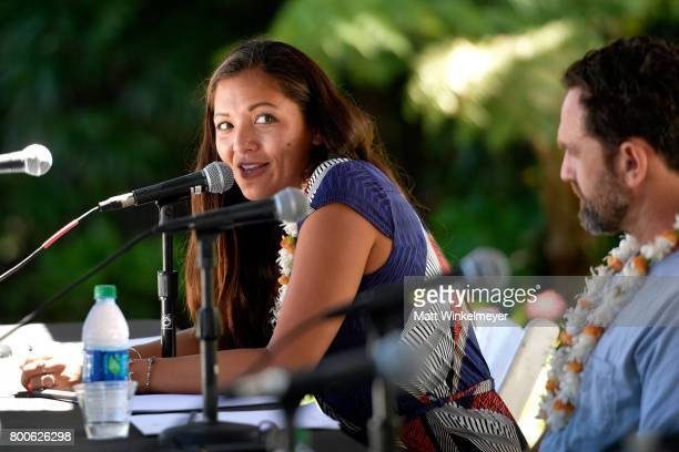 Patagonia Surf Ambassador Kimi Werner speaks during the 'Filmmakers Panel' on day four of the 2017 Maui Film Festival at Wailea on June 24 2017 in...