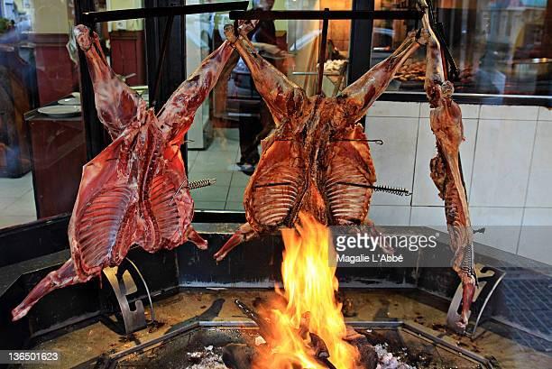 Patagonian lambs roasting