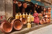 Patan, Metalwork shop