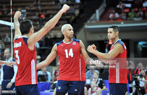 Patch Benjamin Sander Taylor during the FIVB World League 2017 match between Iran and USA at Arena Spodek on June 15 2017 in Katowice Poland