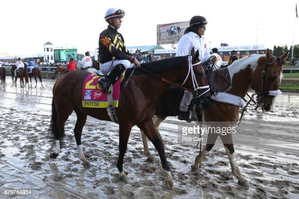Patch ridden by jockey Tyler Gaffalione takes part in the post parade prior to the start of the 143rd running of the Kentucky Derby at Churchill...