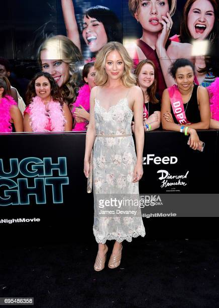 Paten Hughes attends the 'Rough Night' New York Premeire at AMC Lincoln Square Theater on June 12 2017 in New York City