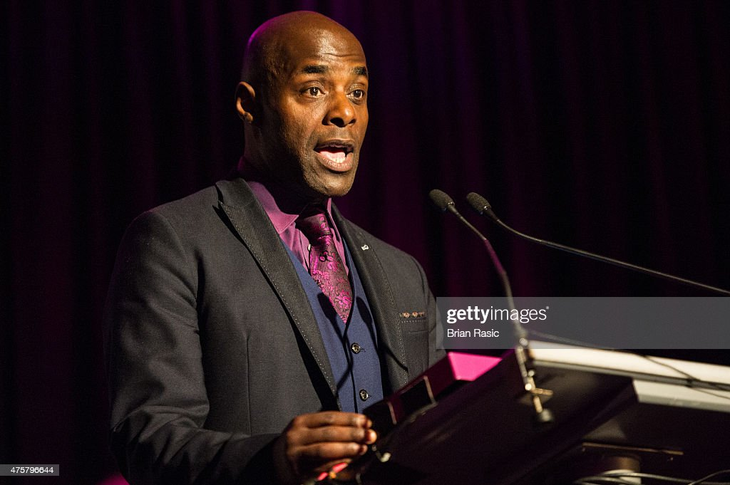 Paterson Joseph speaks during Amnesty International UK celebrate 10th anniversary of headquaters on June 3, 2015 in London, England.