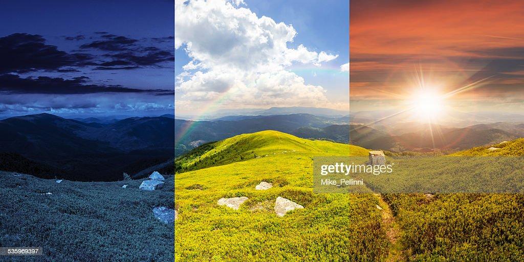 path among stones on mountain top : Stock Photo