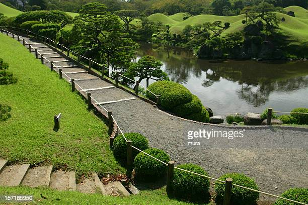 Weg in den japanischen Garten