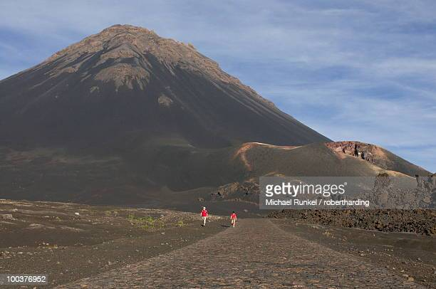 Path leading to volcano on Fogo, Cape Verde Islands, Africa