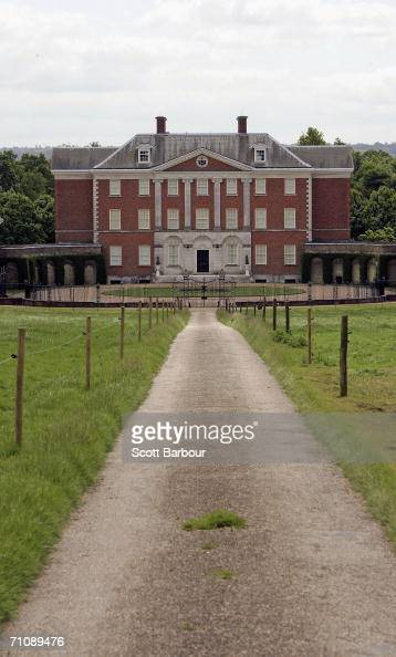 A path leads to Chevening House the country house which is an official residence of the British Foreign Secretary on May 31 2006 in Kent England...