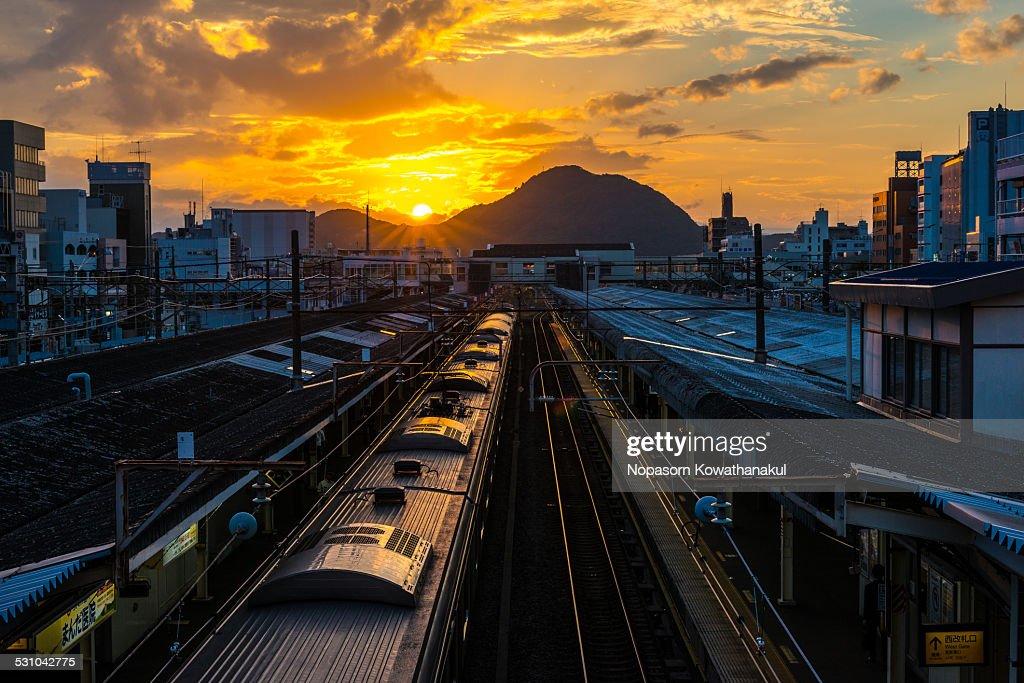 Path to sunset at Koraiyama