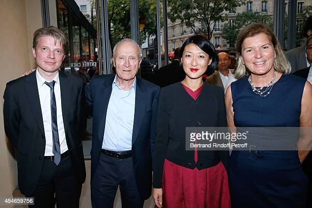 Pathe Jerome Seydoux his wife CEO of the 'Jerome Seydoux Pathe Foundation' Sophie Seydoux French minister of Culture and Communication Fleur Pellerin...