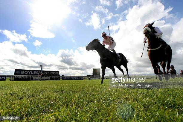 Pathfork ridden by Jockey Fran Berry wins the Boylesportscom Vincent O'brien National Stakes at The Curragh Racecourse