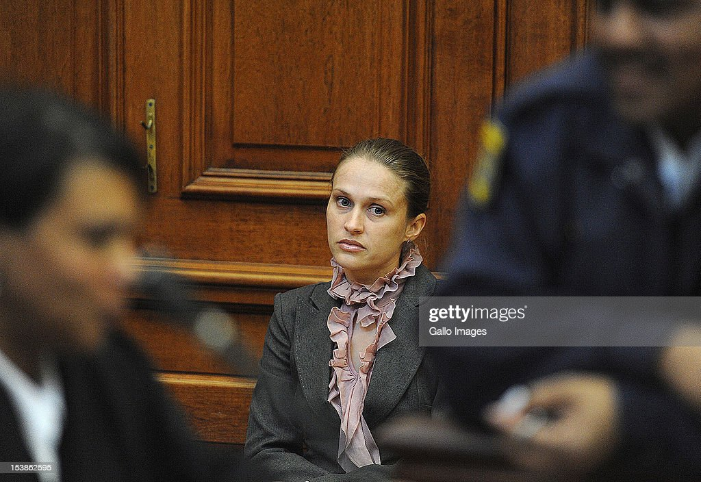 Pathologist Dr. Janette Verster testifies during the trial of Xolile Mngeni, who is accused of murdering British tourist Anni Dewani, in the Cape High Court on October 10, 2012 in Cape Town, South Africa. Mngeni stands accused of shooting Anni, in a murder allegedly plotted by her British husband Shrien Dewani.