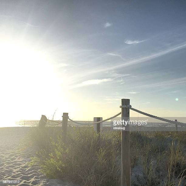 Pathway to a Sandy Island Beach - Mobile Stock