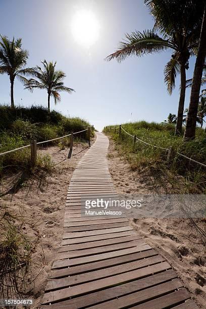 Sentier de la plage, à miami