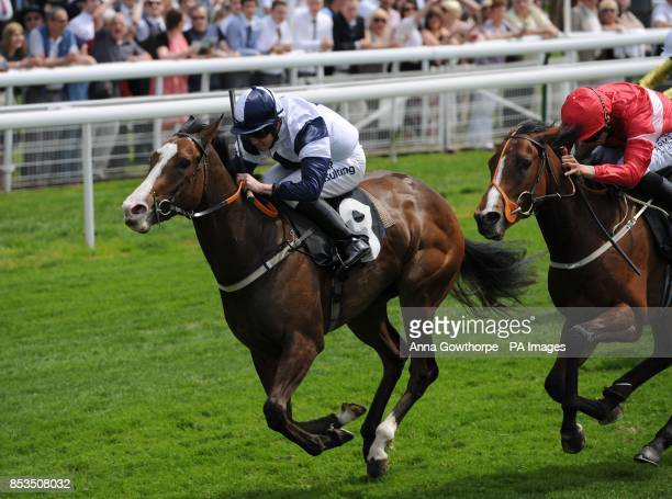Patience Alexander ridden by Jim Crowley wins the Langleys Solicitors LLP EBF Marygate Stakes during the Dante Festival 2014 Festival at York...