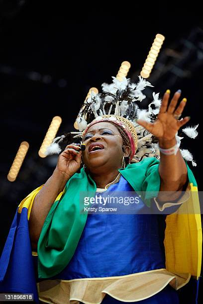 Patience Dabany performs on stage during the 'Nuit Africaine' concert at Stade de France on June 11 2011 in Paris France