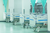 Patient beds in hospitals furniture interior decoration of service patient medical