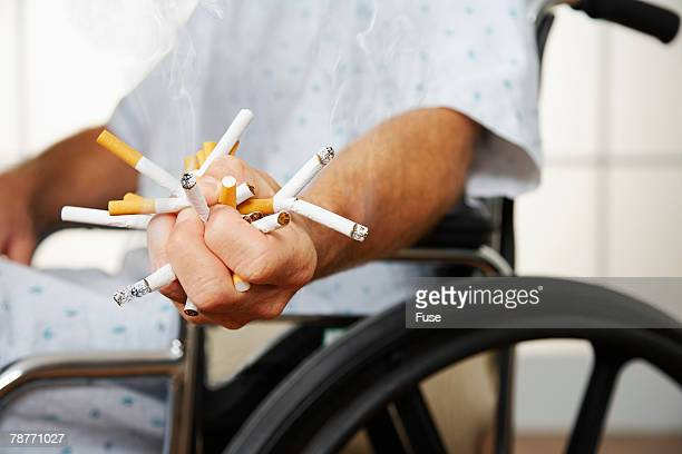 Patient Crushing Cigarettes