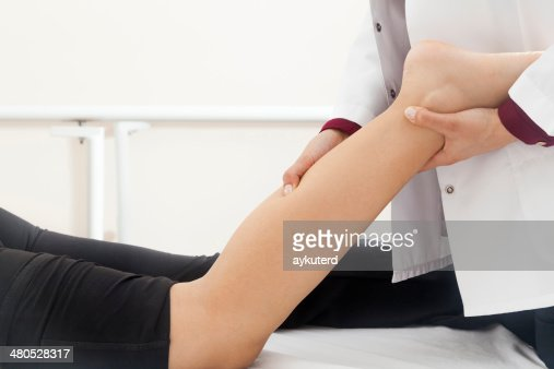 Patient doing some special exercises : Stock Photo