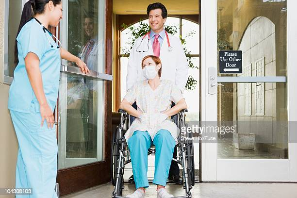 Patient exiting hospital