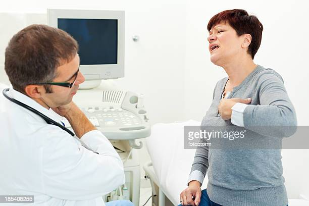 Patient expressing problems with a doctor