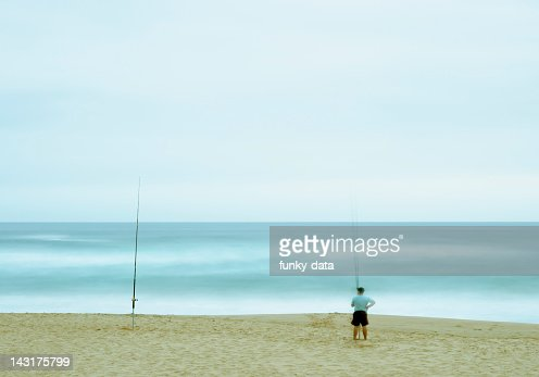 Patient fisher : Stock Photo