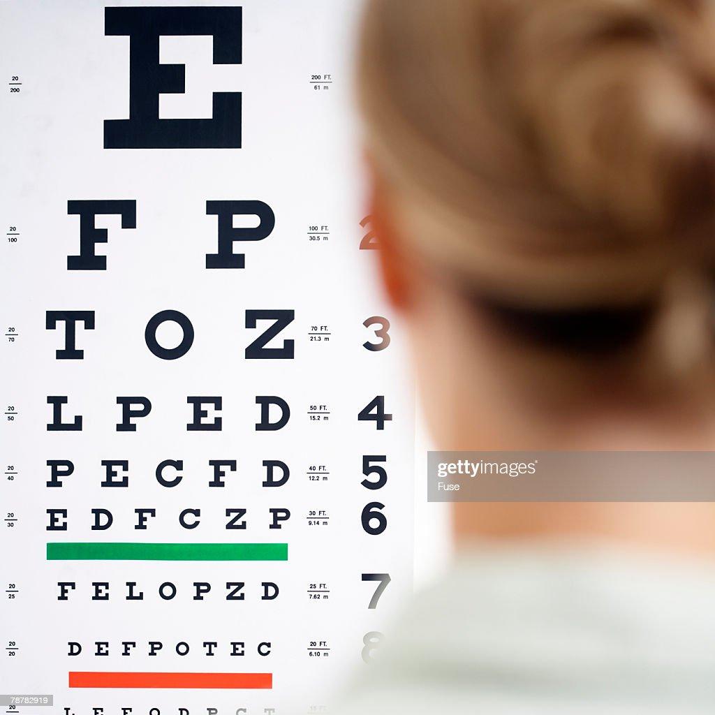Patient Having Vision Test