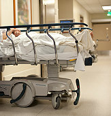 Patient in hospital bed