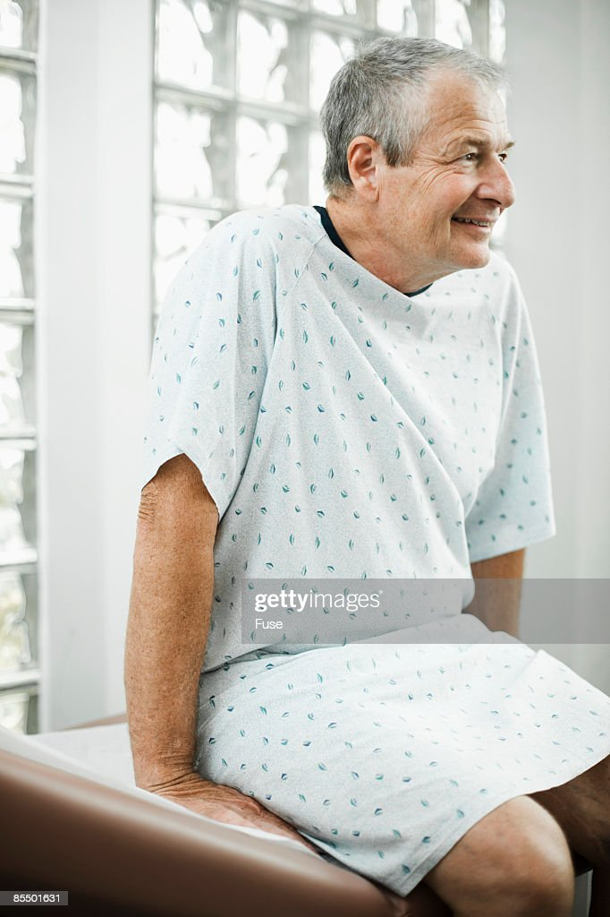 Patient in Hospital Gown