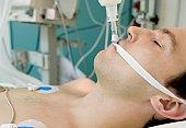 Patient in intensive care unit