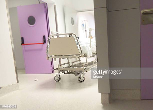 Patient on a stretcher in a hospital