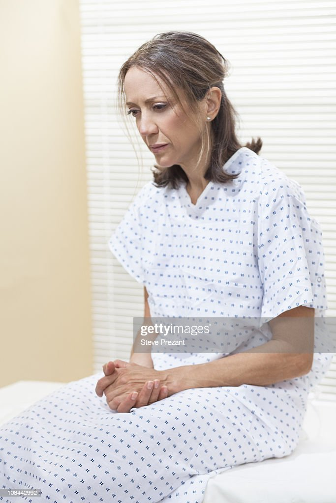 Patient on examination table