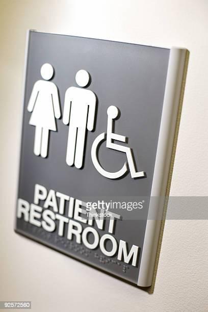 Patient restroom sign
