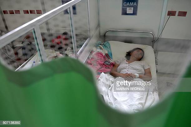 A patient suffering from the GuillainBarre neurological syndrome recovers in the neurology ward of the Rosales National Hospital in San Salvador on...