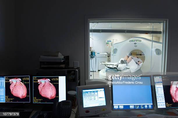 Patient undergoing CAT scan