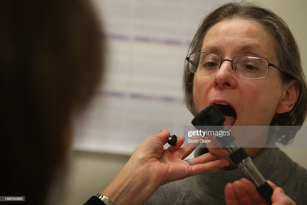 A patient who was experiencing flulike symptoms is examined at Northwestern Memorial Hospital on January 10 2013 in Chicago City According to the...