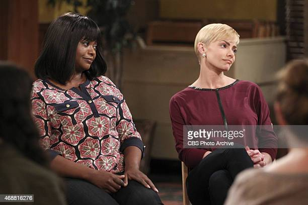 'Patient Zero and the Chocolate Fountain' Regina and Jill listen to Bonnie during an AA meeting on MOM Thursday April 23 on the CBS Television Network