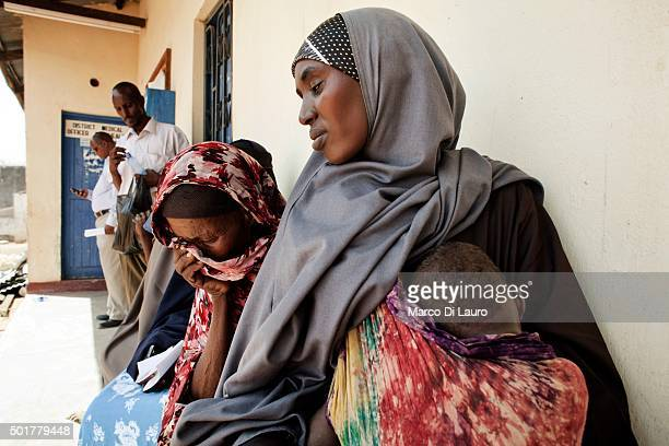 Patients coming from nearby villages wait to be visited by AMREF urologist John Wachira 54yearsold at the Wajir Government Hospital on February 15...