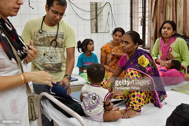 Patients suffering from fever getting treated at Aruna Asaf Ali Hospital on September 21 2016 in New Delhi India Chikungunya and Dengue continue to...