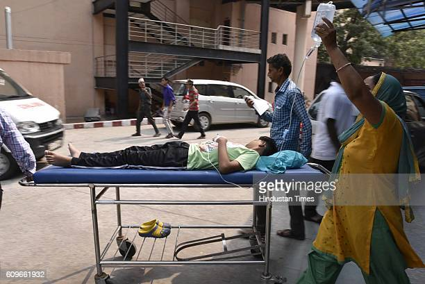 Patients suffering from fever getting treated at Ram Manohar Lohia Hospital on September 21 2016 in New Delhi India Chikungunya and Dengue continue...
