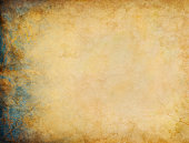 A vintage grunge background with patina-like colors and textures on the left side margin.