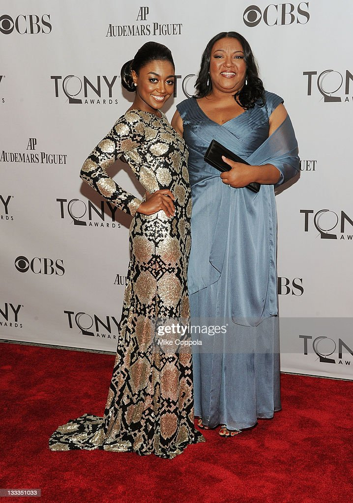 Patina Miller and Robin Birch attend the 65th Annual Tony Awards at the Beacon Theatre on June 12, 2011 in New York City.