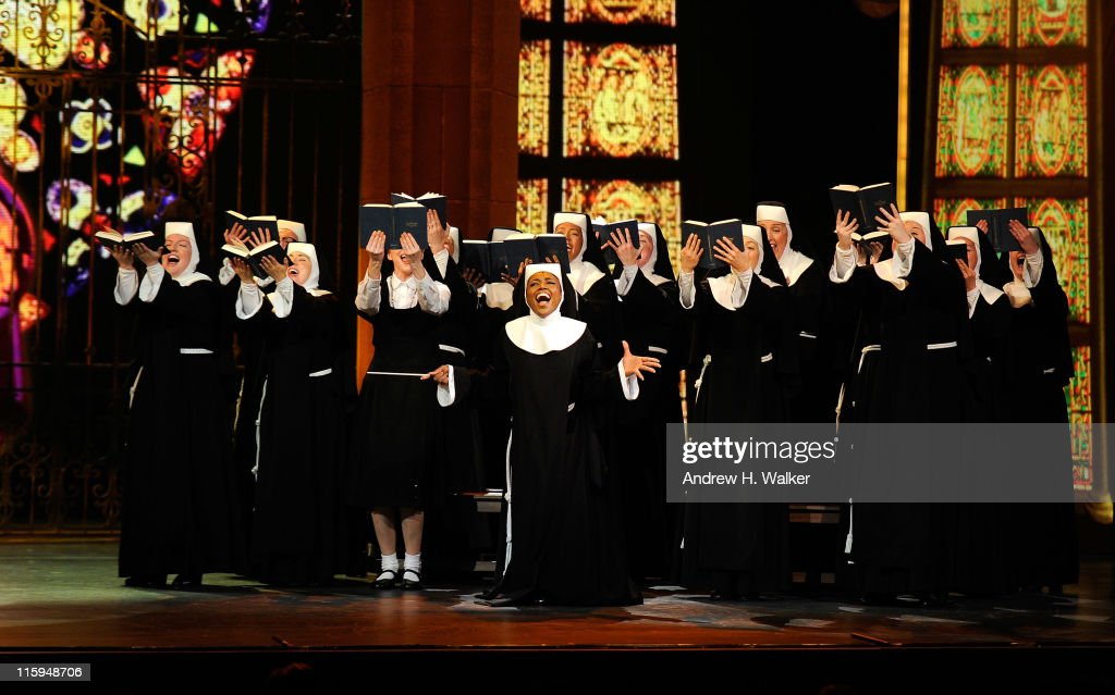 Patina Miller and the cast of 'Sister Act' perform on stage during the 65th Annual Tony Awards at the Beacon Theatre on June 12, 2011 in New York City.