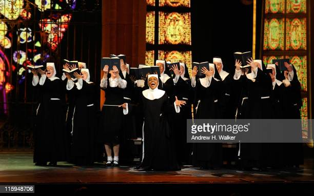 Patina Miller and the cast of 'Sister Act' perform on stage during the 65th Annual Tony Awards at the Beacon Theatre on June 12 2011 in New York City