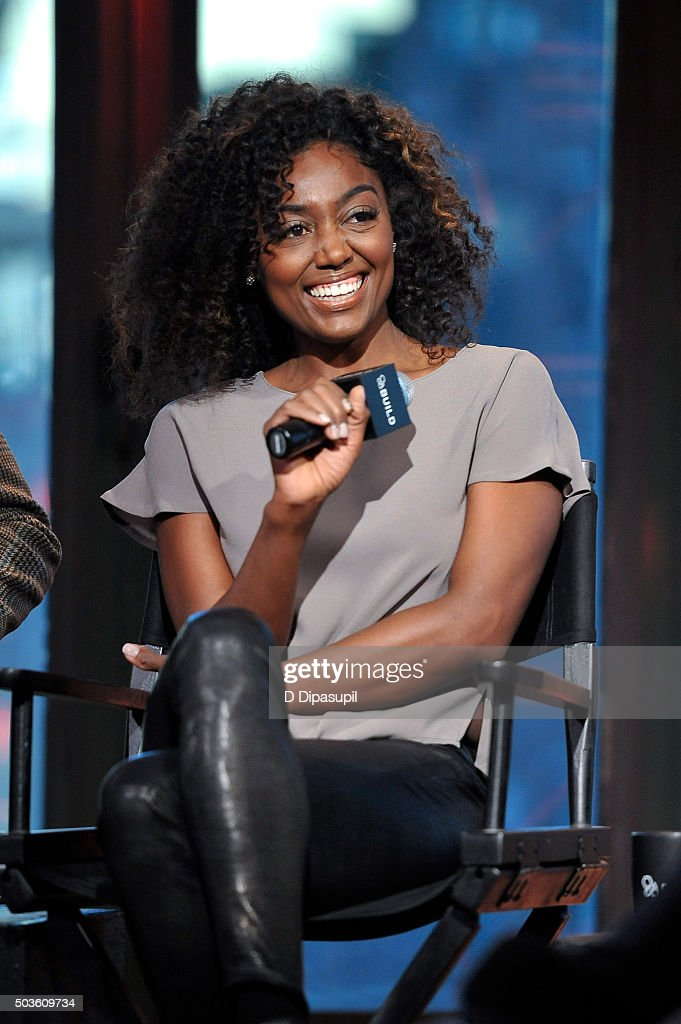 Erich Bergen, Geoffrey Arend and <a gi-track='captionPersonalityLinkClicked' href=/galleries/search?phrase=Patina+Miller&family=editorial&specificpeople=5748190 ng-click='$event.stopPropagation()'>Patina Miller</a>, 'Madam Secretary' at AOL Studios In New York on January 6, 2016 in New York City.
