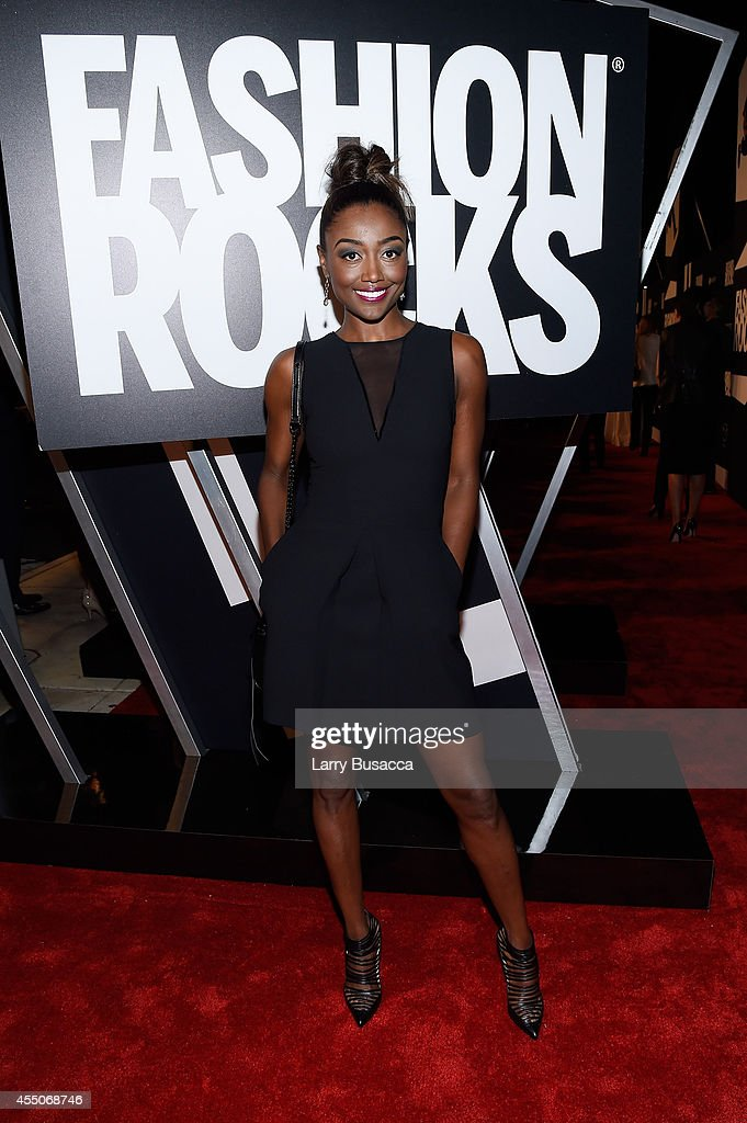 Patina Miller attends Fashion Rocks 2014 presented by Three Lions Entertainment at the Barclays Center of Brooklyn on September 9 2014 in New York...