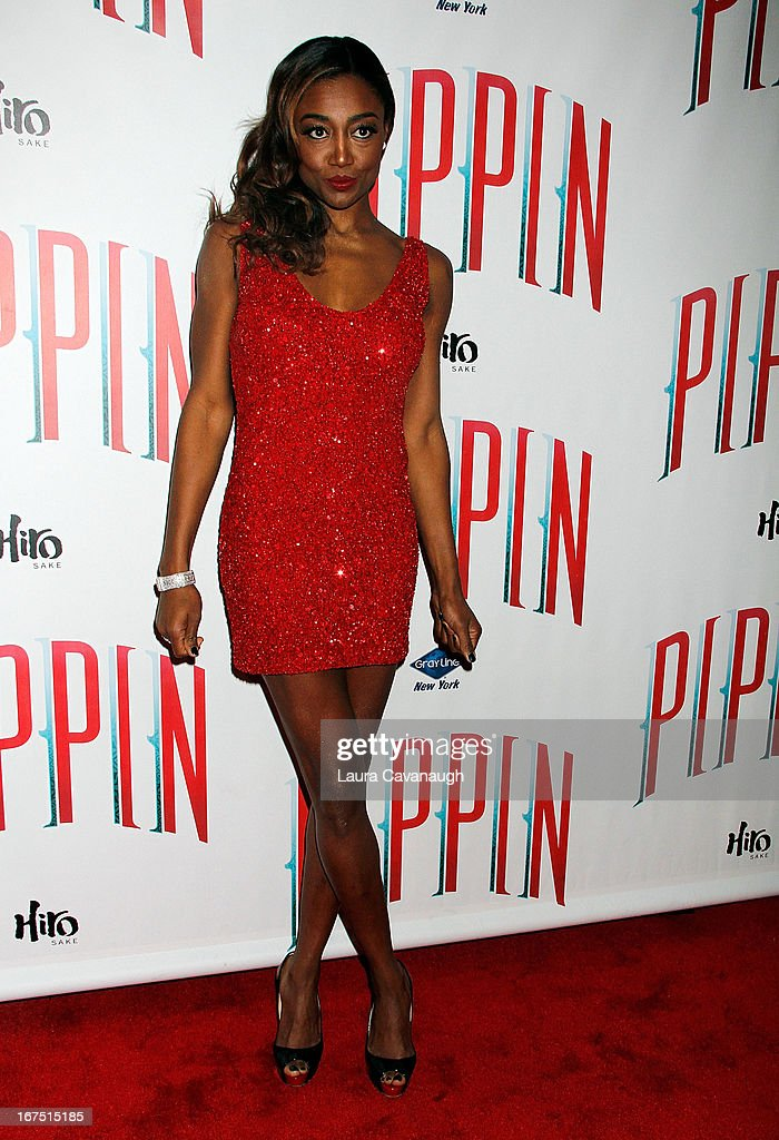 <a gi-track='captionPersonalityLinkClicked' href=/galleries/search?phrase=Patina+Miller&family=editorial&specificpeople=5748190 ng-click='$event.stopPropagation()'>Patina Miller</a> attends the after party for the Broadway opening night of 'Pippin' at Slate on April 25, 2013 in New York City.