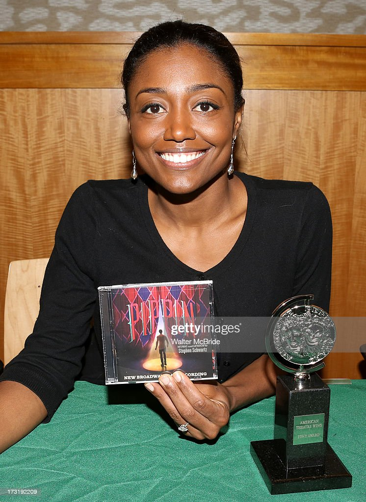 Patina Miller attends the Broadway cast of 'Pippin' performance and CD signing at Barnes & Noble, 86th & Lexington on July 9, 2013 in New York City.