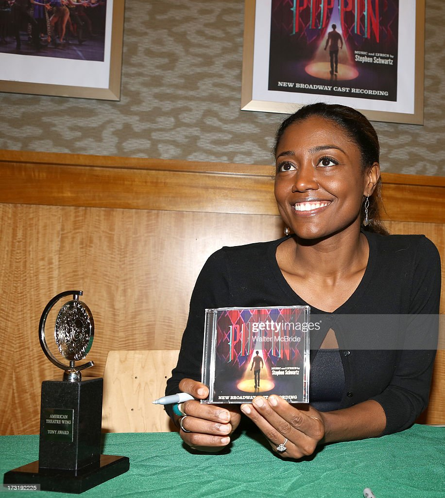 <a gi-track='captionPersonalityLinkClicked' href=/galleries/search?phrase=Patina+Miller&family=editorial&specificpeople=5748190 ng-click='$event.stopPropagation()'>Patina Miller</a> attends the Broadway cast of 'Pippin' performance and CD signing at Barnes & Noble, 86th & Lexington on July 9, 2013 in New York City.